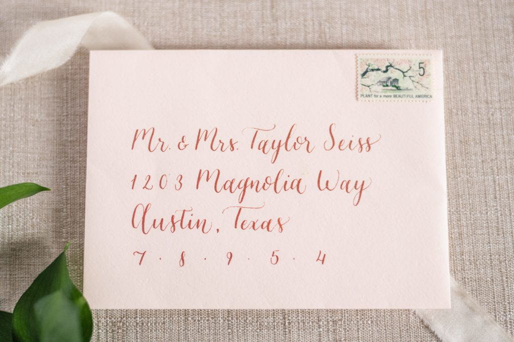 wedding etiquette 101 how to address wedding envelopes by CalliRosa Calligrapher in San Antonio Texas