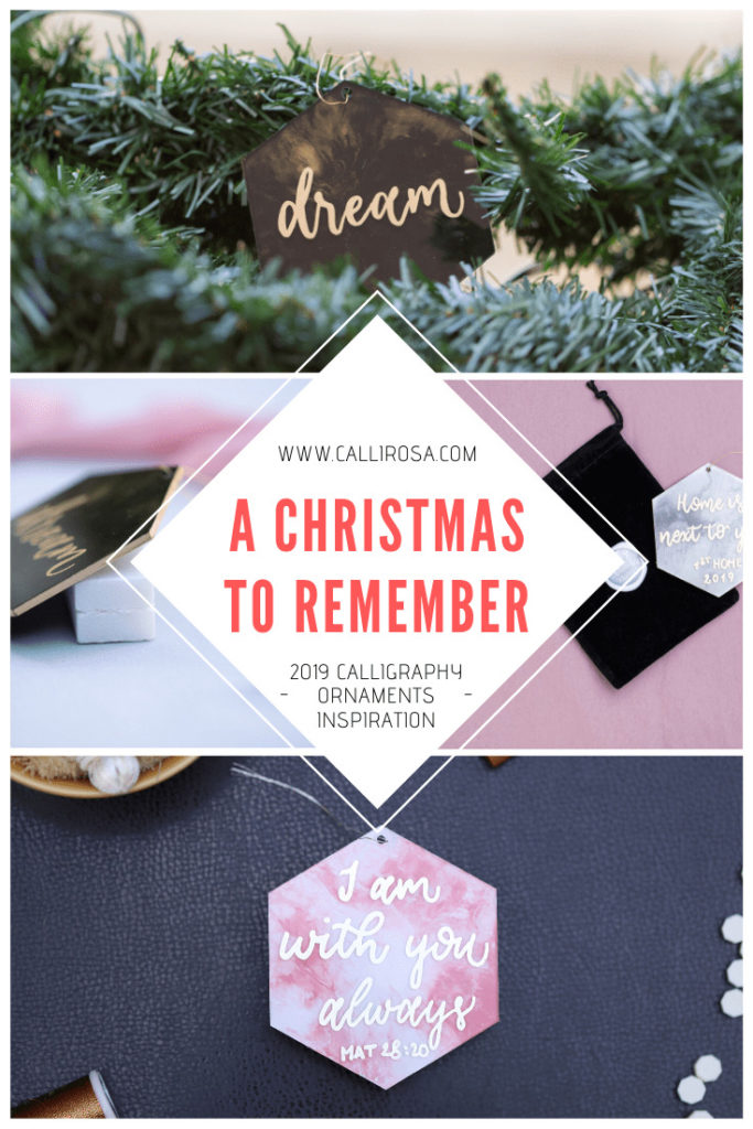 A Christmas To Remember 2019 Calligraphy Christmas Ornaments Inspiration Personalized by CalliRosa