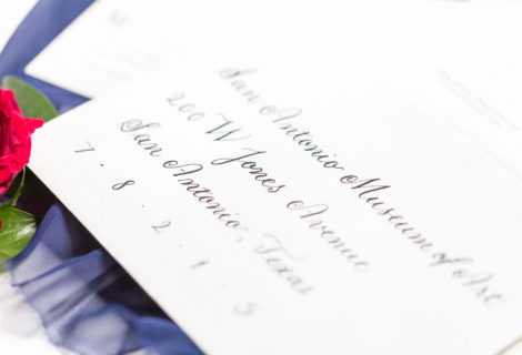Black on White Envelope Calligraphy Copperplate at Kendall Plantation by CalliRosa in San Antonio