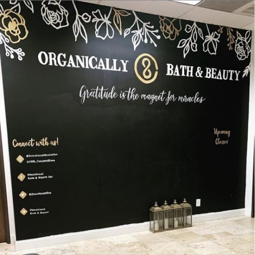 Business services - Organically Bath & Beauty Mural