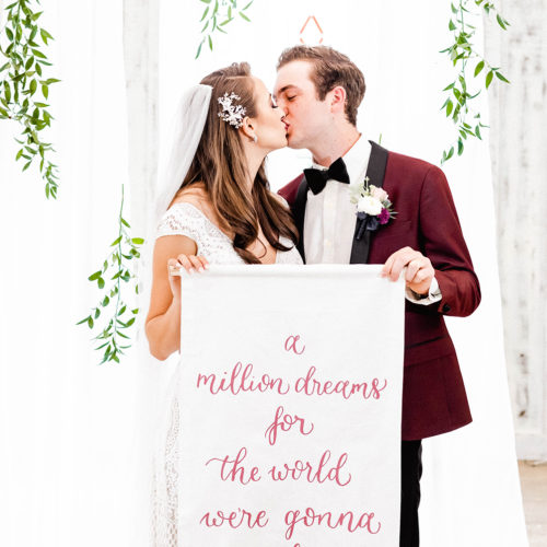 Quote Banner with Burgundy Calligraphy At Harper Hill Ranch by CalliRosa