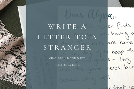 Header Write A Letter To A Stranger Love Notes Envelope Calligraphy
