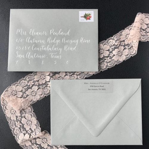 Love Notes Envelope by CalliRosa Calligraphy and Invitations San Antonio Texas