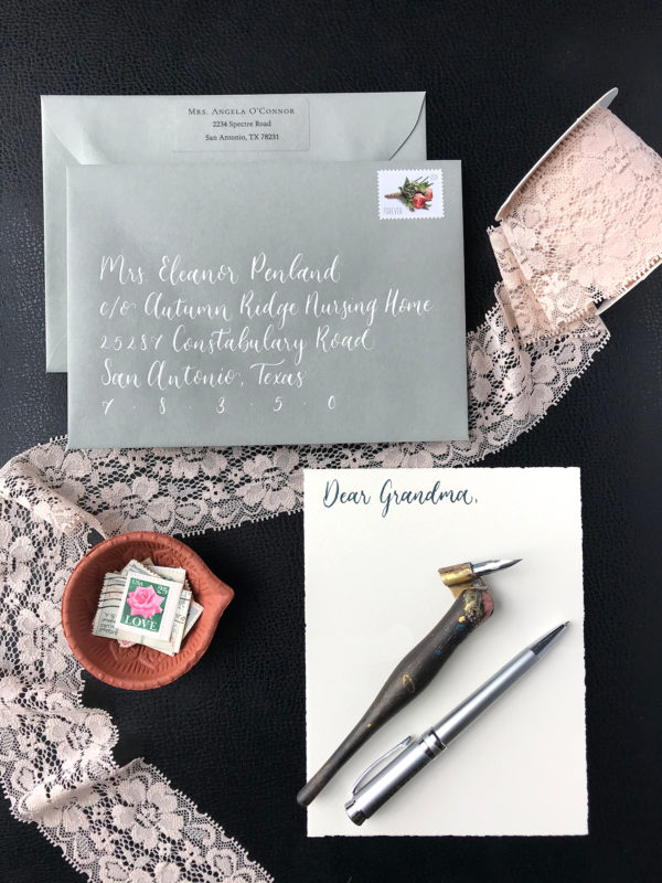 Love Notes Letter Kit Envelope and Card by CalliRosa Calligraphy and Invitations San Antonio Texas
