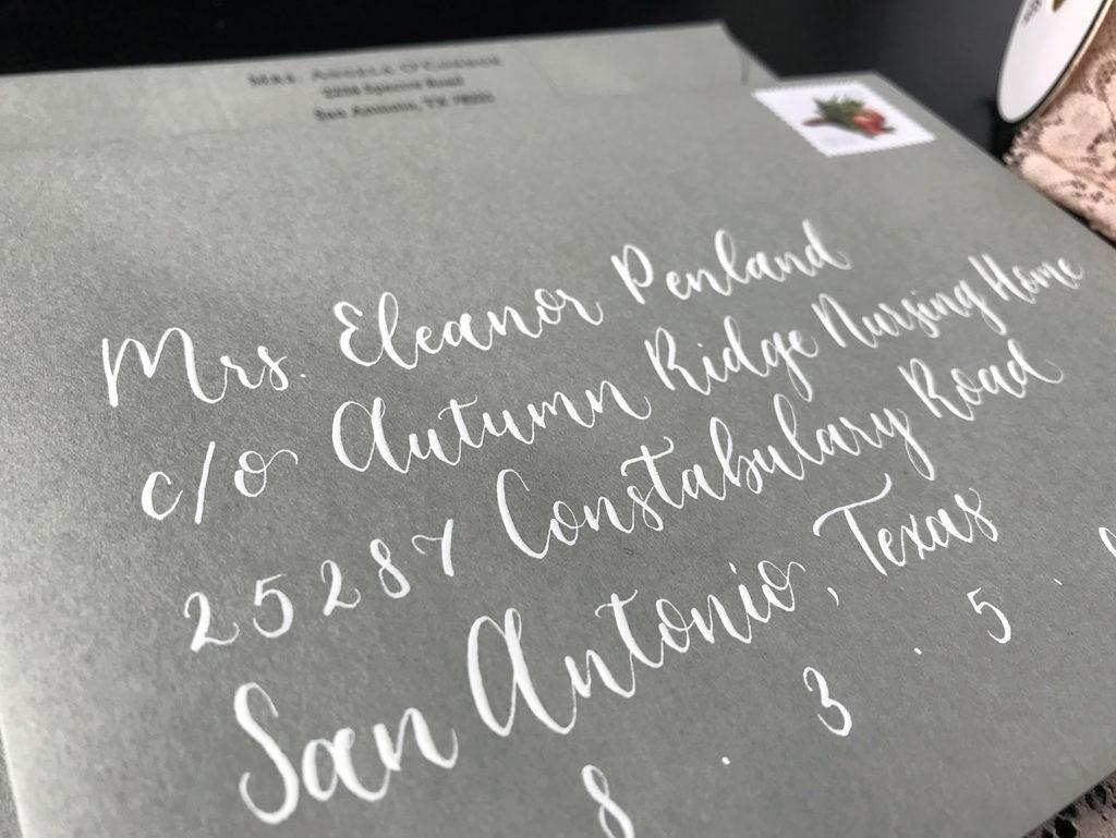 Write A Letter To A Stranger Love Notes Envelope Calligraphy San Antonio