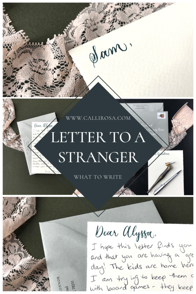 Write A Letter To A Stranger Love Notes Envelope Calligraphy