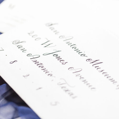 Black on White Envelope Calligraphy Copperplate at Kendall Point in Boerne Texas by CalliRosa
