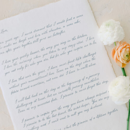 Love Letter Vows Calligraphy Kendall Point Boerne CalliRosa