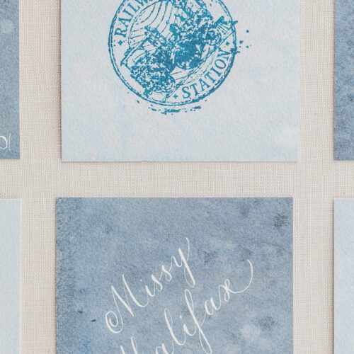 Vintage Orient Express Inspired Escort Cards at Railroad Museum in San Antonio by CallIRosa
