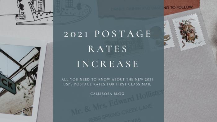 2021 USPS Postage Rate Increase Blog by CalliRosa 1